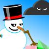 Vliegende Sneeuwman